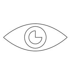 Eye the black color icon vector