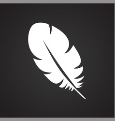 feather icons set on black background for graphic vector image
