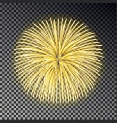 festive golden fireworks christmas firecracker li vector image