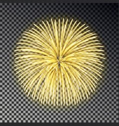 Festive golden fireworks christmas firecracker li vector
