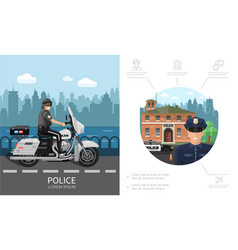 flat police colorful concept vector image