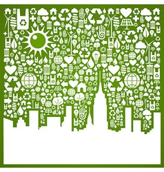 Go green city background vector image
