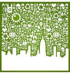 Go green city background vector