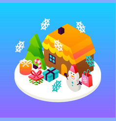 house winter holidays concept vector image