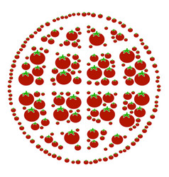 Internet composition of tomato vector
