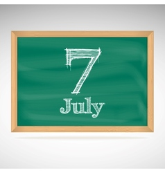 July 7 day calendar school board date vector
