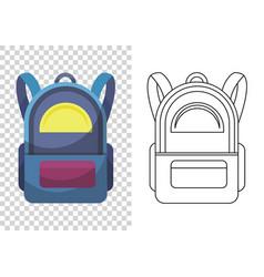 Kids school backpack colorful school bag vector