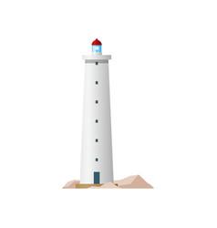 lighthouse sea beacon tower light nautical coast vector image
