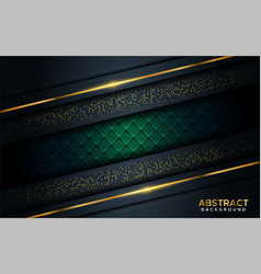 luxurious dark background with golden line vector image