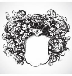 Medieval floral crest vector
