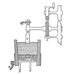 Metallic calcium preparation vintage vector
