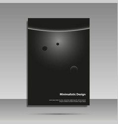 minimalist design black and white brochure vector image