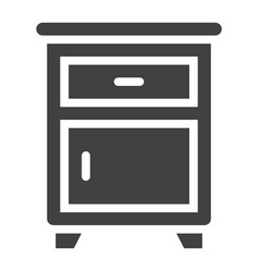 nightstand solid icon furniture and interior vector image
