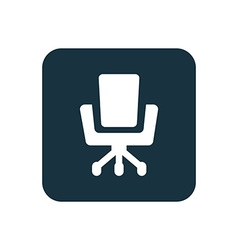 Office chair icon Rounded squares button vector