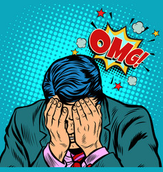 omg shame businessman vector image