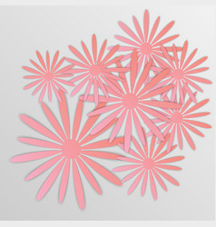 paper flower origami30 vector image