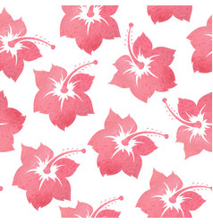 pattern with tropical watercolor flowers vector image