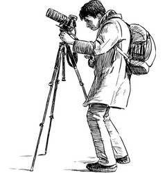 Person photographing vector