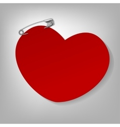 Pinned heart vector