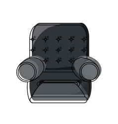 Recliner chair icon image vector