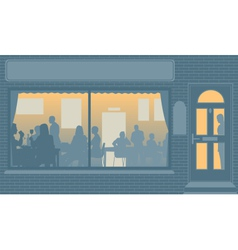 Restaurant window vector image