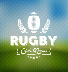 rugby team club logo sport vector image