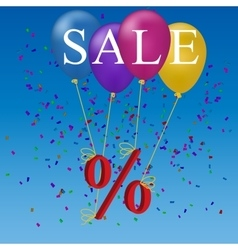 sale balloon discount concept vector image