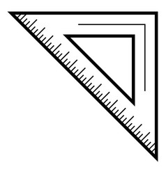 school angle ruler icon outline style vector image