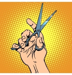 Scissor hand Barber vector
