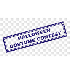 Scratched halloween costume contest rectangle vector