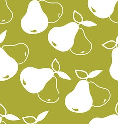 Seamless background with pears vector
