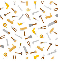 set construction tools seamless pattern vector image