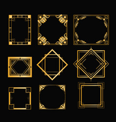 Set of art deco frames in vector