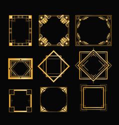 set of art deco frames vector image