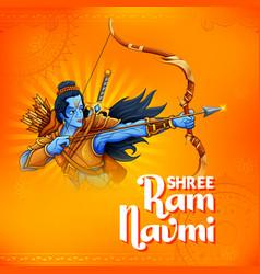 Shree ram navami celebration background vector