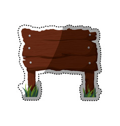 Sign wooden wood planks vector