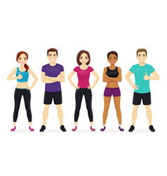 sport people set vector image