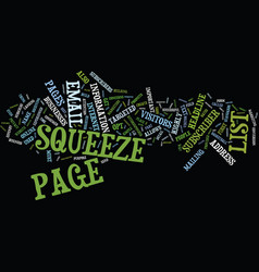 The killer squeeze page strategies text vector