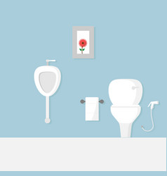toilet flat design vector image