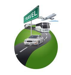 travel saround world vector image