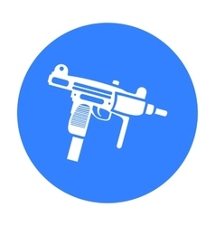 UZI weapon icon black Single weapon icon from the vector image