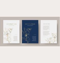 Vintage floral luxury invitation card templ vector