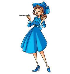 Vintage girl vector