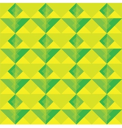 Yellow and green square seamless pattern vector