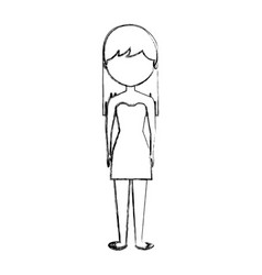 Young woman avatar character vector
