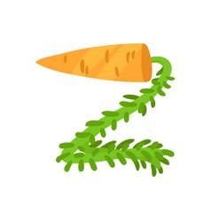 Z veggie vegetable english alphabet letter made vector