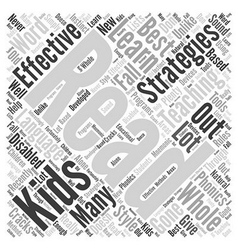 effective teaching strategies Word Cloud Concept vector image vector image