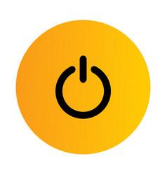 Flat black power icon vector