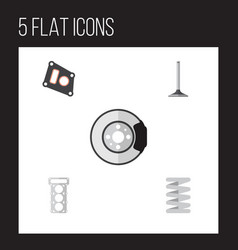 flat parts set of car segment packing crankshaft vector image vector image