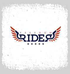 freedom rider label vector image vector image